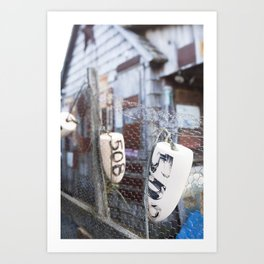 Jersey Buoys Art Print