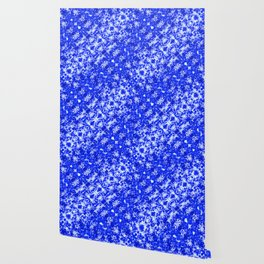 Blue and White Fluid Abstract 45 Wallpaper
