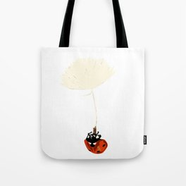 Ladybird in the air Tote Bag