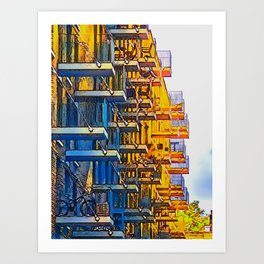 Cantilevered Spaces Art Print