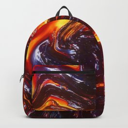 Lava Abstract Art Backpack