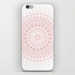 Rose Quartz Mandala iPhone Skin