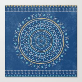 Astral Lullaby in Blue Canvas Print