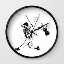 Baseball Violin Wall Clock