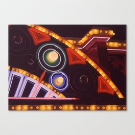 Close Up Neon and Lights Paul Dunlop circa 1980s Canvas Print