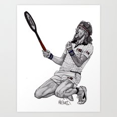 Tennis Borg Art Print