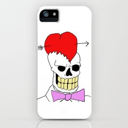 Mort Moonguts Head Cracked Open With Love. iPhone Case