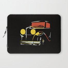 Vector art deco Brussels 1930s auto salon Laptop Sleeve