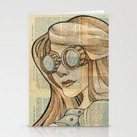 hallion Stationery Cards featuring Iron Woman 1 by Karen Hallion Illustrations