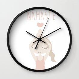 Namaste Yoga Mermaid Lady with Peace in Mind - International Yoga Day Wall Clock