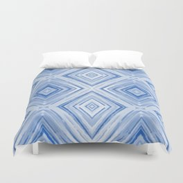 Blue watercolor pattern Duvet Cover