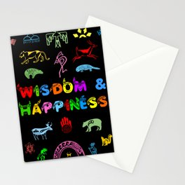 Wisdom and Happiness Stationery Cards