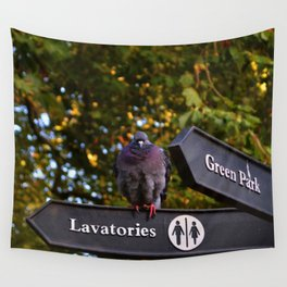 Pigeons in London   Wall Tapestry