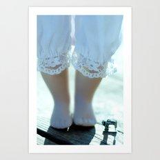 Alice's Escapades ~ Alice & The Sewing Machine  Art Print