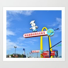 Old School Fast Food Art Print