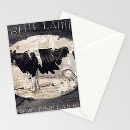 Vintage French Farm Sign Cow Stationery Cards