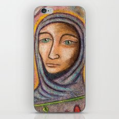 Hooded Lady of Chalk iPhone & iPod Skin