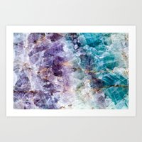 crystals Art Prints featuring crystals  by lokyic