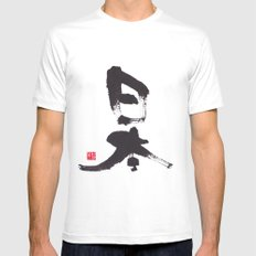 Japan MEDIUM White Mens Fitted Tee