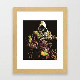 Assassin's Creed In Anomali WPAP Framed Art Print