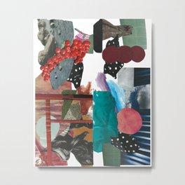 Collage Garden Metal Print