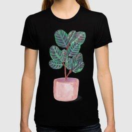 Calathea Peacock Plant Watercolor T-shirt