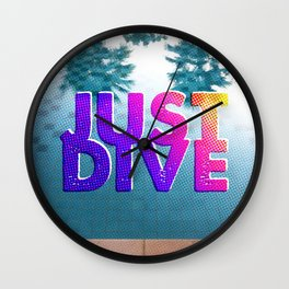 Just Dive Wall Clock