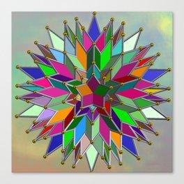 Mandala #106, Star Burst Canvas Print