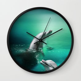Dolphin Delights Wall Clock