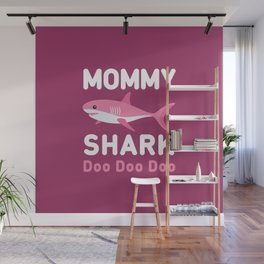 Mommy Shark Wall Mural