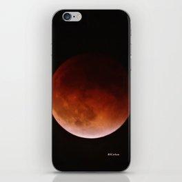Blood Moon through Southern California Haze iPhone Skin