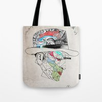 the godfather Tote Bags featuring Godfather by Mary Szulc
