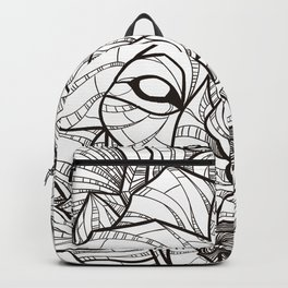 Geometric Wolf Backpack
