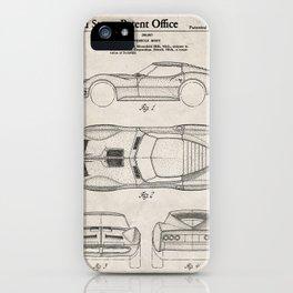 Classic Car Patent - American Car Art - Antique iPhone Case