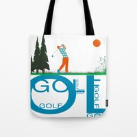 golf Tote Bags featuring Golf, golf, golf! by South43
