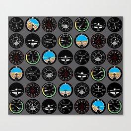 Flight Instruments Canvas Print