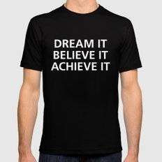 Motivational Black 2X-LARGE Mens Fitted Tee