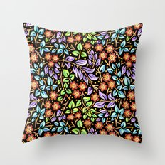 Filigree Floral smaller scale Throw Pillow