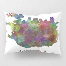 Iceland in watercolor Pillow Sham