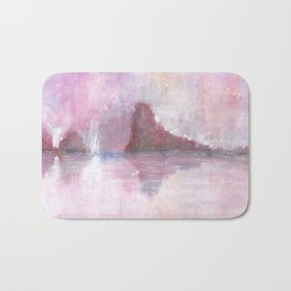 Abstract Red Landscape Bath Mat