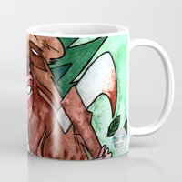 skyrim Mugs featuring Skyrim Warrior by Jazmine Phillips
