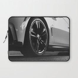 Black Rim Sports Car // White Paint Street Level B&W German Bavarian Motor Automobile Photograph Laptop Sleeve