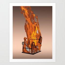 Armchairageddon! Art Print