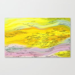 Melting Sunset Canvas Print