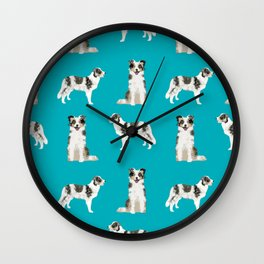 Border Collie dog breed gifts collies herding dogs pet friendly Wall Clock