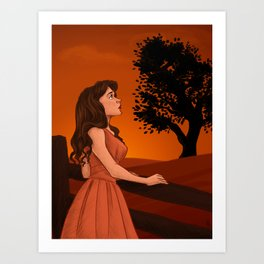 Learn to let the longing go Art Print