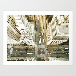 Aerial view of New York City Art Print