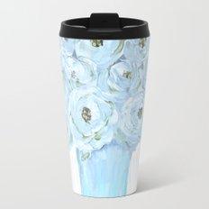 Boho still life flowers in vase Travel Mug