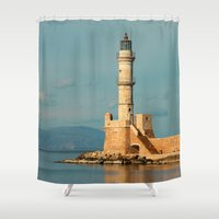 lighthouse Shower Curtains featuring Lighthouse by Sylvia C