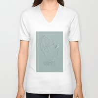 grimes V-neck T-shirts featuring GRIMES by chazstity